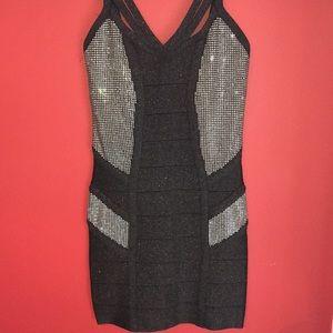 BeBe Sweetheart Studded Dress